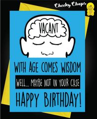 Birthday Card -Not in your case c424
