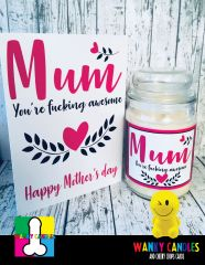 Mum - Wanky Candle & Card - Large Limited Edition (16oz)