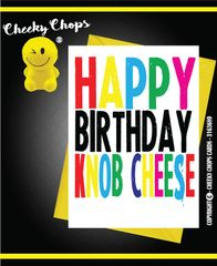 Happy Birthday Knob Cheese c933