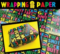 Offensive wrapping paper