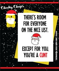 Christmas Card - You're a cunt XM65