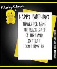 Birthday Card Black Sheep C387