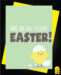 Easter Card - have an egg-cellent easter E6