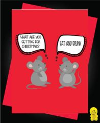 Funny Christmas Cards - Fat and Drunk XM119