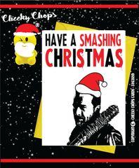 Walking Dead - Smashing Christmas Christmas Card XM67