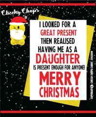 Christmas Card - Daughter XM77