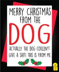 Funny Christmas Cards - Merry Christmas from the Dog XM162