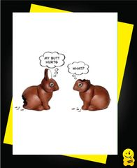 Easter Card - My butt hurts E13