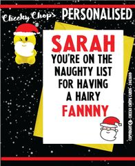 Personalised Christmas Card XM21 - Hairy Fanny
