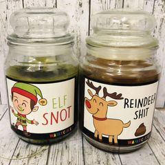 BLACK FRIDAY OFFER - 2 LARGE CANDLES FOR £15.00 (ELF SNOT AND REINDEER SHIT)