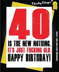 40th Forty Birthday Card - C47