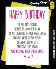Birthday Card - BEST FRIENDS Sane C21