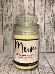 Mum of the year Wanky Candle (Large 16oz) MC4