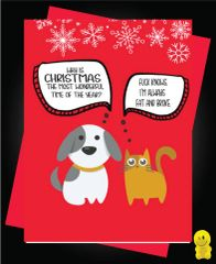 Funny Christmas Cards - Fat and broke XM122
