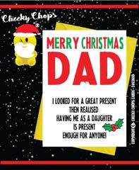 Christmas Card DAD XM55