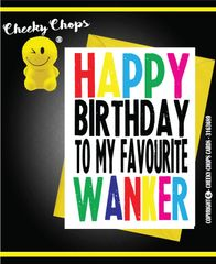 HAPPY BIRTHDAY TO MY FAVOURITE WANKER- C960