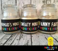 WANKY MINGE PACK - Wanky Candle - Sweaty Minge, Mermaids Minge and Fanny Farts