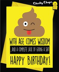 Birthday Card - Giving a shit C436