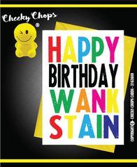 Happy Birthday Wank Stain c946
