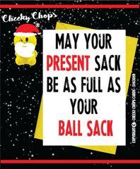 Christmas Card - Ball sack XM64