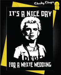 Billy idol white wedding w18
