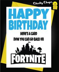 Eat Sleep Fortnite Repeat Birthday Card C988