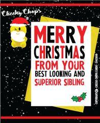 Christmas Card Merry Christmas - Superior Sibling XM49
