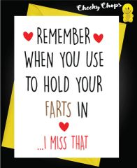 Anniversary Card - Hold your farts in A39