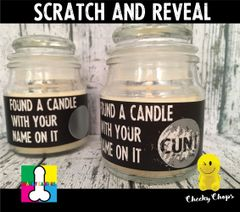 Scratch and Reveal ( your name on it) - Wanky Candle - WC25