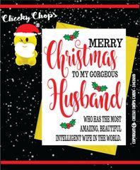 Christmas Card - Gorgeous Husband / Wife XM80