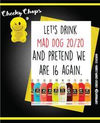 Mad Dog 20 20 - Birthday Card - Retro Vintage C124