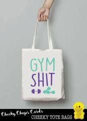 Funny Cheeky Chops Tote/Shopper/Bag/Gift - Gym Shit - TB07
