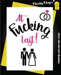 Wedding Card - At last W3