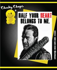 Anniversary, Valentine -Half your heart - Negan A2