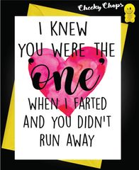 Anniversary Card - I knew you were the one A31