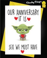 Anniversary Card - Yoda - Sex A41