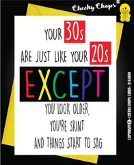 20's and 30's - Birthday Greeting Card - C1