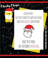 Christmas Card - Santa's Favourite XM81
