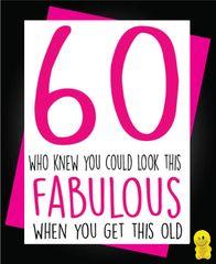 Funny Birthday Cards - 60 Fabulous C177