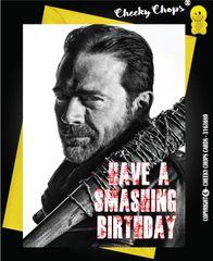 Birthday Card - The Walking Dead Negan c237