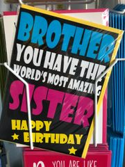 CARD FOR A QUID Brother Sister - C187 (card for a quid C109)