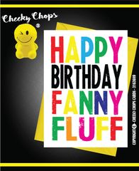 Happy Birthday Fanny Fluff c945