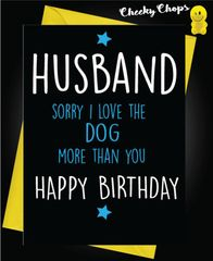 Husband - Love the Dog C457