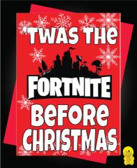 Funny Christmas Cards - Fortnite - Twas the fortnite before Christmas XM97
