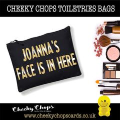 Personalised - Cosmetics, Toiletries , Wash Bag - FACE