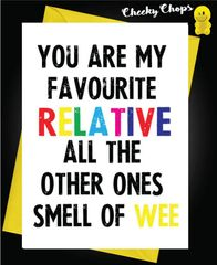 Birthday Card - Smell of wee C434