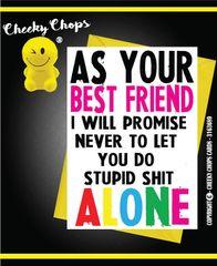 Birthday Card - BEST FRIENDS - Alone C225