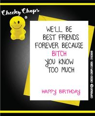 Birthday Card - Best friend/ Friends forever C383