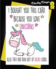 Birthday Card - Unicorns and Dildo's c428
