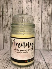 Nanny of the year Wanky Candle (Large 16oz) MC5